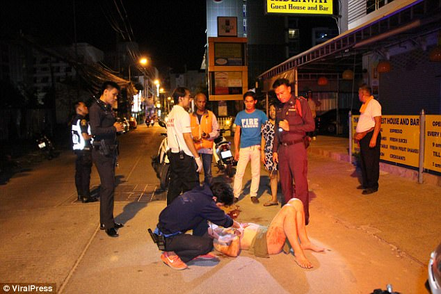An ambuance rushed the man to Banglamung Hospital in Pattaya, a city on Thailand's eastern Gulf coast, where he is now recovering