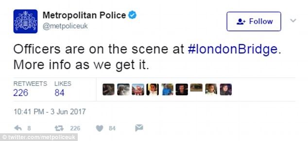 Armed police are attending the 'horrific' scene alongside ambulances