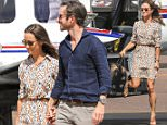 Pippa Middleton and James Matthews landed in Darwin on their way to Perth