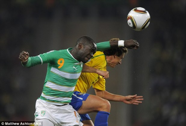 The midfielder won 52 caps for his country - here is pictured in action against Brazil