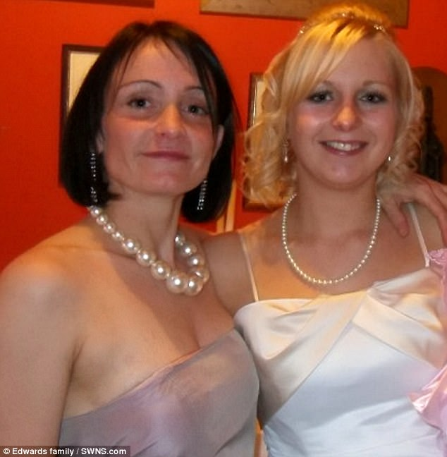 Jacky, 47, of South Horrington, Somerset, pictured with Katherine, 30