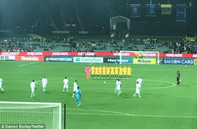 Fans were left outraged at the display ahead of a World Cup qualifier against Australia in Adelaide