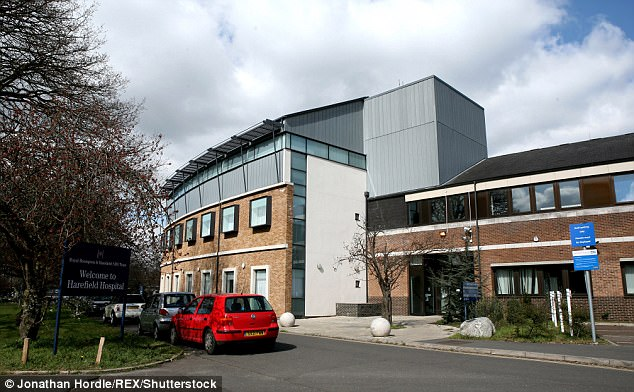 Prosecutor Peter Clement QC suggested Amrani had 'abused his position'. Pictured, Harefield Hospital in west London