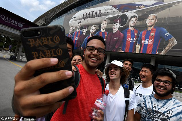 Wearing a Barcelona shirt with Qatar Airways sponsor in Saudi Arabia could prove very costly