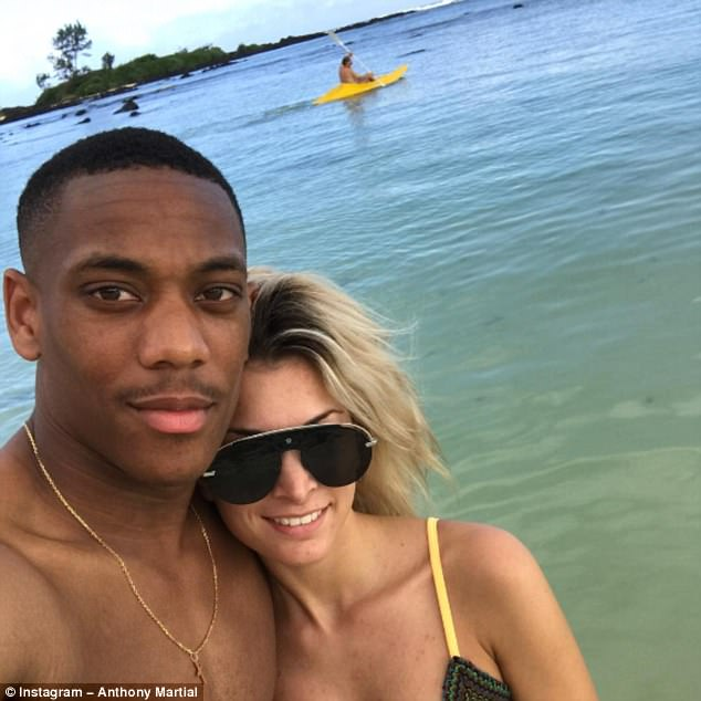 Anthony Martial has shown his love for his girlfriend after sharing a picture of them on holiday