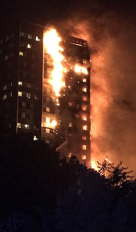 The 'horrendous' blaze has engulfed the 24-storey Grenfell Tower in Latimer Road, White City, in the early hours of Wednesday morning