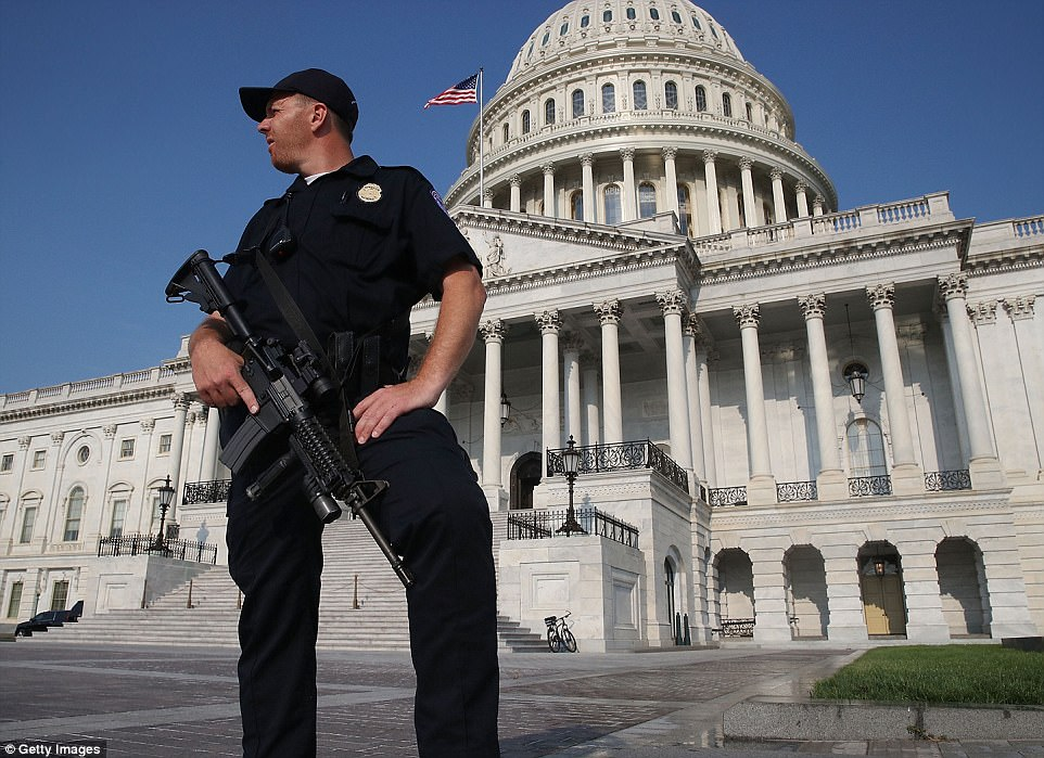 There was heightened security in the capitol after the shooting on Wednesday morning