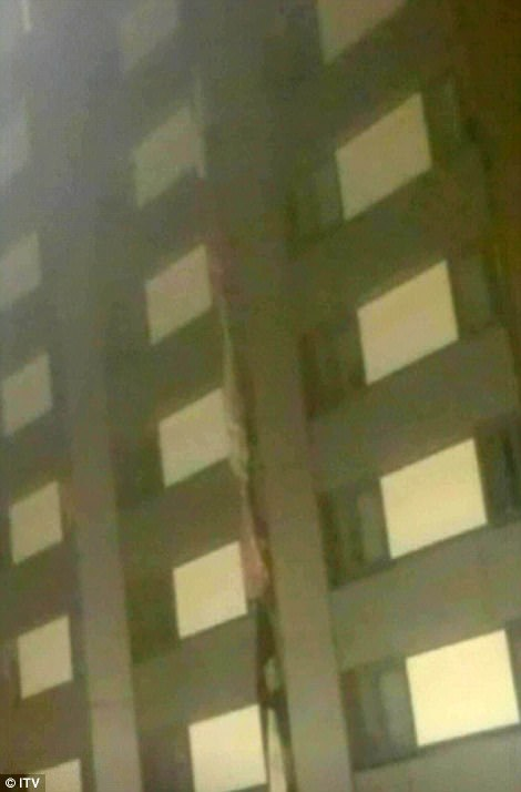 Terrified residents trapped in a burning tower block were forced to knot bed sheets together to form makeshift ladders or jump from the 27-storey building in a desperate bid to escape the flames
