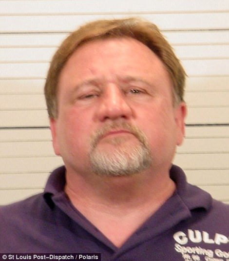 Hodgkinson had a lengthy criminal record which includes charges, but no convictions, for DUI, domestic battery, pointing a gun at a relative. He is seen in mugshots in 1992 (left) and 2006 (right)