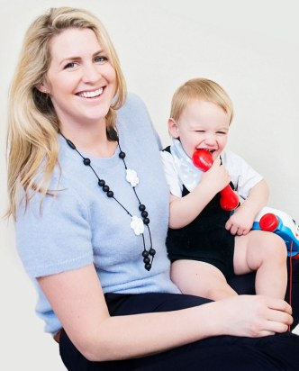 Mumpreneur Emily Sunderland Sutter, 34, is the founder of teething jewellery company Nibbling. She lives in London with her husband Stefano, 44, and their children