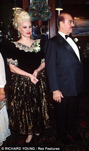 Split: With ex-husband Adnan in 1992