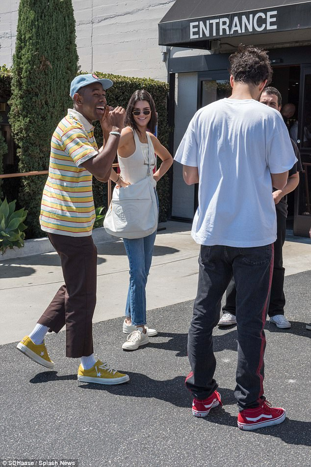 Last laugh:Kendall Jenner and her pal, Tyler, The Creator, as they enjoyed a day out together this weekend, after denying rumours they were dating