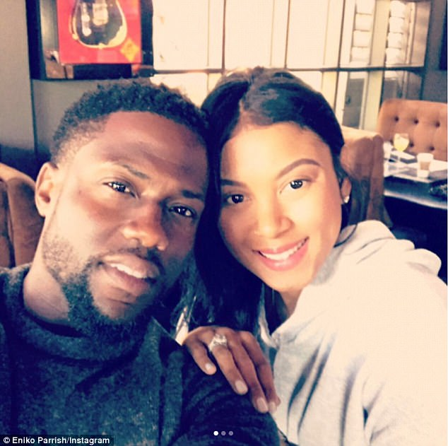 The big reveal: Kevin had announced Eniko's pregnancy on Mother's Day this year via an Instagram album with a caption that began: 'Celebrating Mother's Day with my beautiful wife'