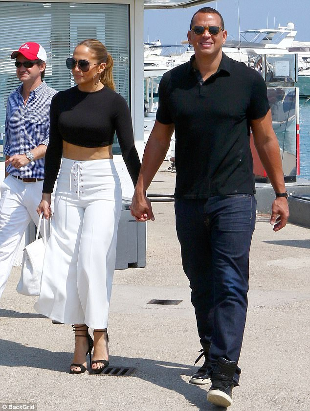 Hand in hand: This comes after the Shades Of Blue actress celebrated her five-month anniversary with former baseball pro beau Alex Rodriguez in Paris and Antibes in France