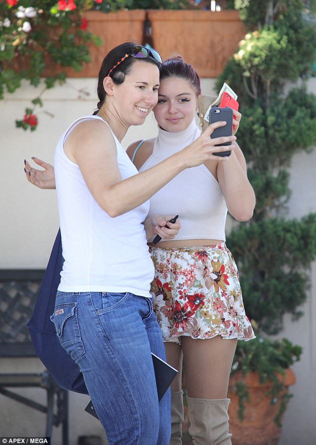 Pose: The Modern Family star made a fan's day by posing with her for a selfie