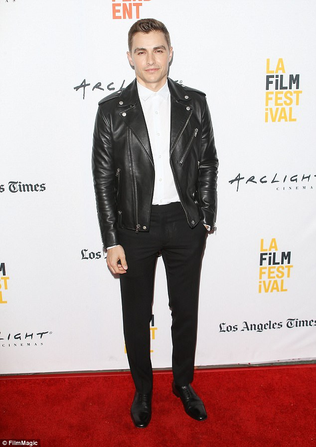 Dapper:Keeping with the theme of why not, Dave looked dapper in a white dress shirt and black leather biker jacket