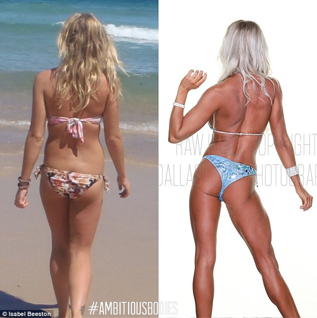 Reflecting back at her incredible body transformation, Miss Beeston said she was always a 'happy girl' but was on 'completely different paths of my life'