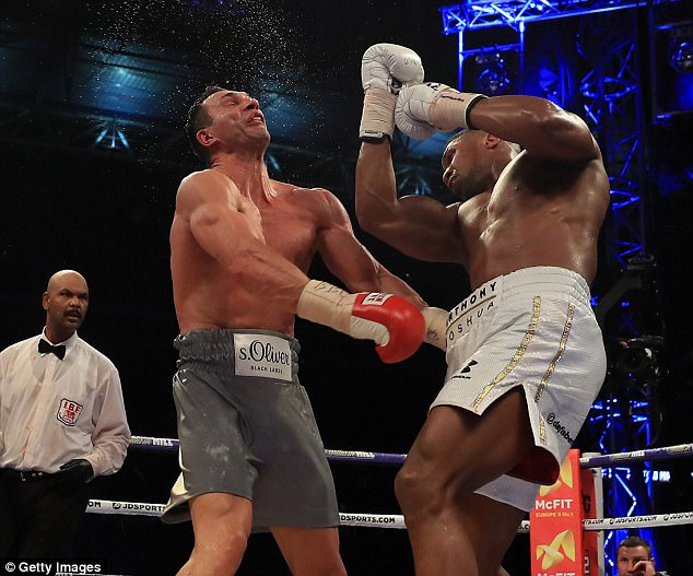Joshua then beat Klitschko in April this year in a dramatic 11th round stoppage at Wembley