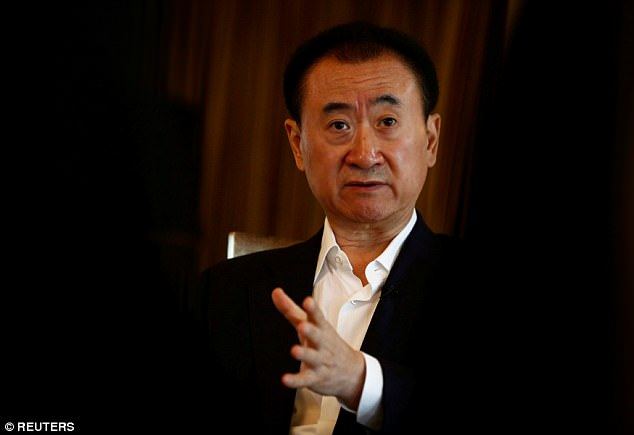 The shopping mall is a part of the Wanda Group,  owned by property tycoon and China's richest man Wang Jianlin (pictured) who is worth a whopping £24.6 billion