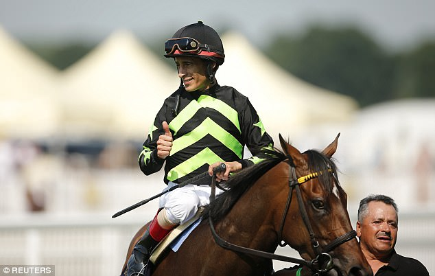 John Velazquez took over in the saddle from the injured Frankie Dettori and triumphed