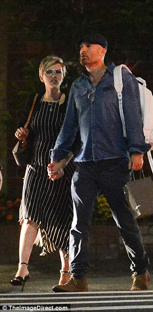 Moving on:The outing comes just months after Scarlett filed for divorce from Romain, who she has two-year-old daughter Rose with