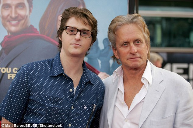 Cameron Douglas (left, with dad Michael Douglas in 2009) has escaped returning to jail after marijuana was found in his system in April. He had been doing time for selling meth and heroin