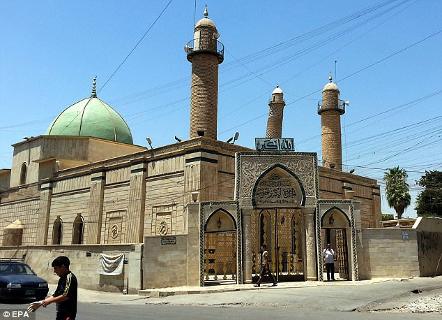 ISIS has blown up the iconic mosque where it announced its own so called caliphate in 2014