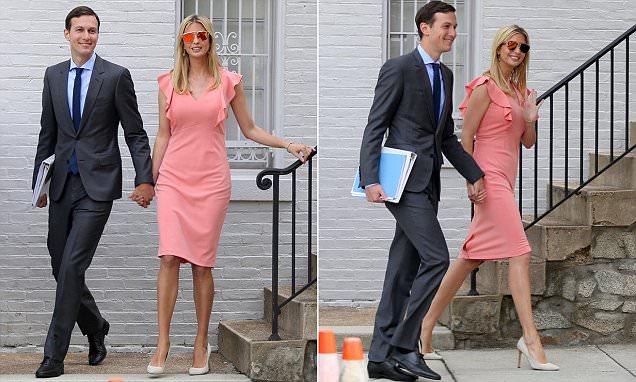 Ivanka Trump and Jared Kushner pictured hand in hand