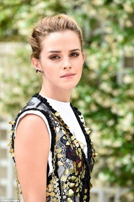Turning heads: Emma Watson looked fresh as a daisy as she attended The Circle Paris photocall at Hotel Le Bristol in Paris on Thursday