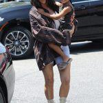 Kim Kardashian and Cute Daughter,North In Calabasas