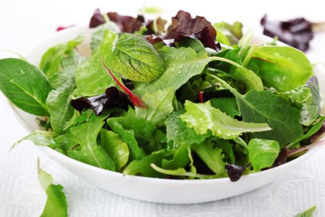 Anna suggested eating foods that help aid digestion, such as bitter greens, before having a protein-packed meal (stock image)