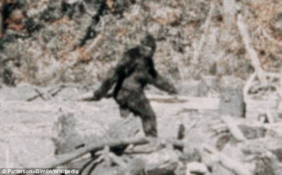 Monkey business? Lowe claims he met the 'wood ape' in the Ozarks and that his show, The Lowe Files has 'no BS'. Pictured: A famous file photo allegedly of Bigfoot