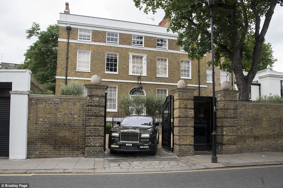 Security staff moved a Range Rover at around 3.45pm yesterday before the two Rolls Royces emerged and headed south towards the Kings Road