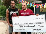 Tennessee Titans cornerback Logan Ryan presented his older brother with a check for $82,000 to pay off his student loans. Ryan shared a photo (above) to Instagram showing he and his brother holding a large check with the subject line 'F*ck Student Loans'