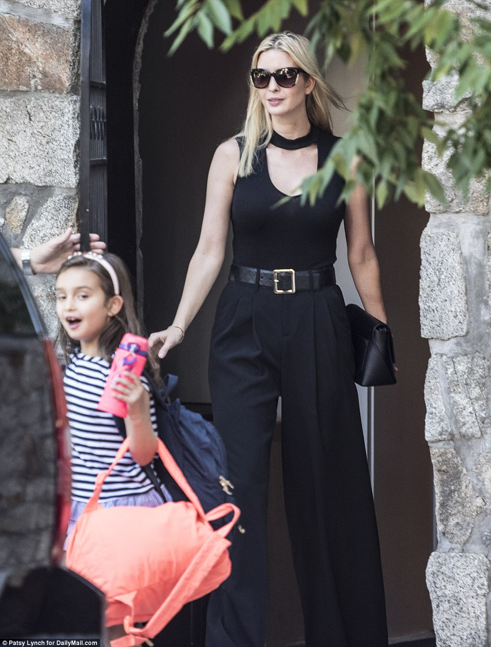 Doting mom: Ivanka was photographed taking her daughter Arabella, five, out for the day