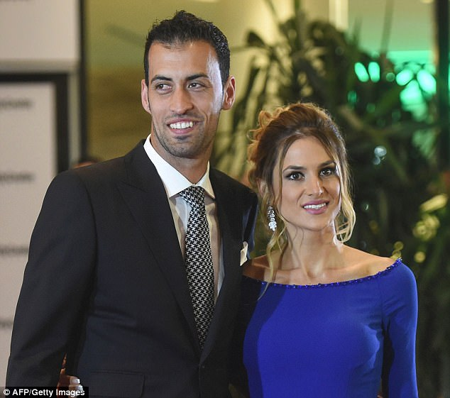 Barcelona's Sergio Busquets was present for Messi's wedding out in Argentina on Friday night
