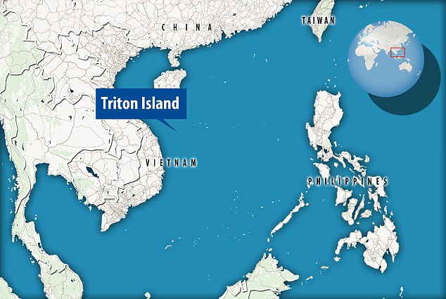 Disputed: Triton Island is located in the South China Sea and its ownership is disputed as it is claimed by China, Taiwan and Vietnam. The US said it was denying all claims to the island