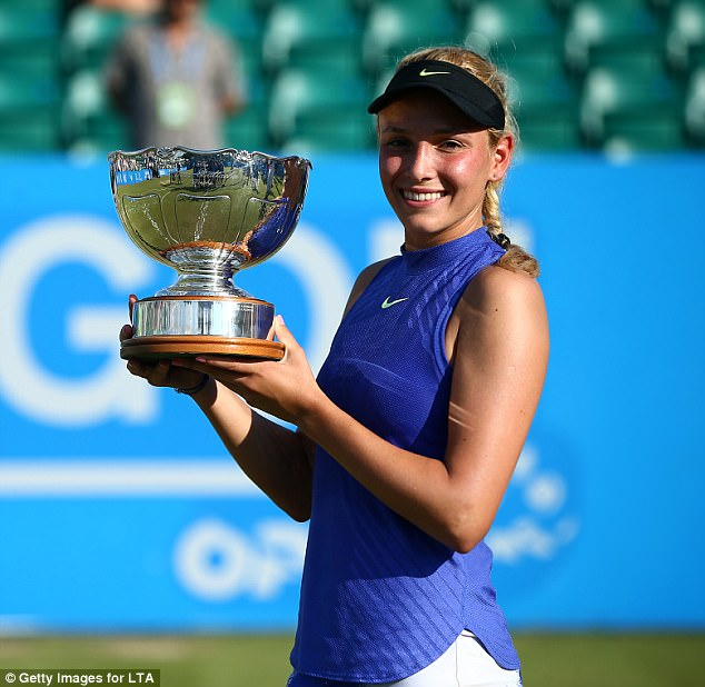 The 21-year-old received a major confidence boost ahead of Wimbledon when she won the Nottingham Open last month
