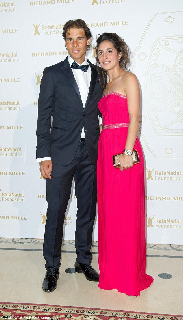 The down-to-earth pair attend a gala dinner in aid of the Rafa Nadal Foundation