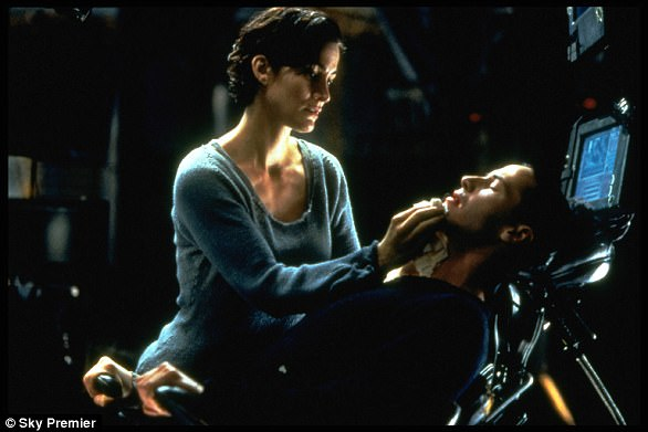 In The Matrix, users plugged into a computer using a bulky cable attached to the brain