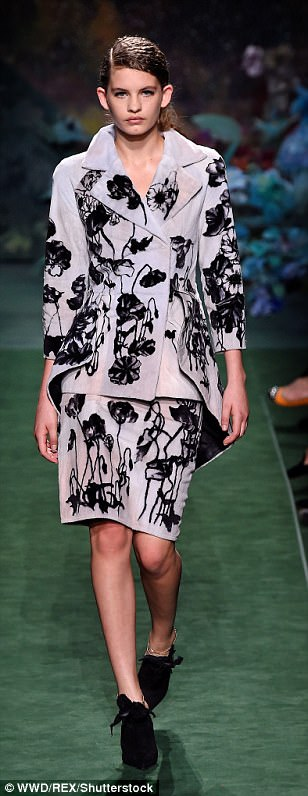 Floral fancy: Oversized jackets, midi hemlines and menswear inspired tailoring were key for the new season