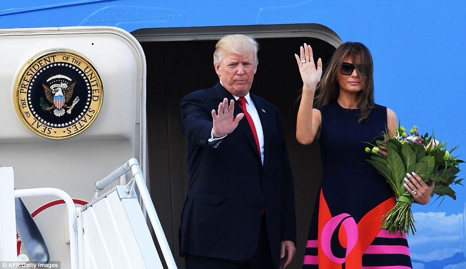 It was also confirmed that Trump accepted an invitation to visit the small central European nation that is the homeland of his wife Melania following his speech