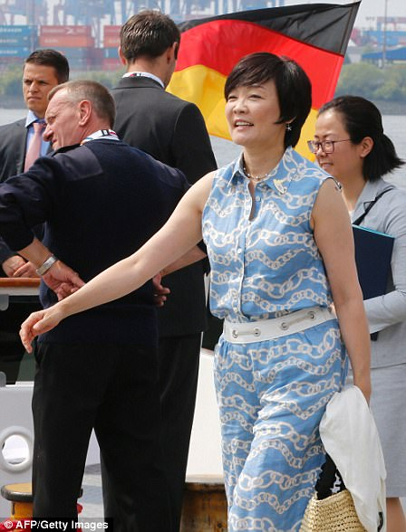 Also in attendance was Akie Abe, wife of Japan's Prime Minister Shinzō Abe