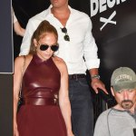 Jennifer Lopez Stun In This Mini Dress At The MLB FanFest In Miami