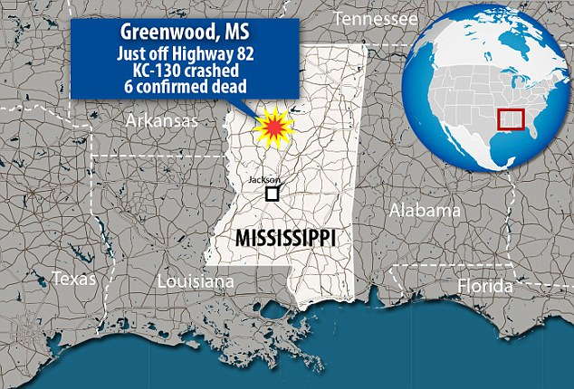 The crash was reported around 4pm just off of Highway 82 in Greenwood, Mississippi, which is roughly two hours north of Jackson