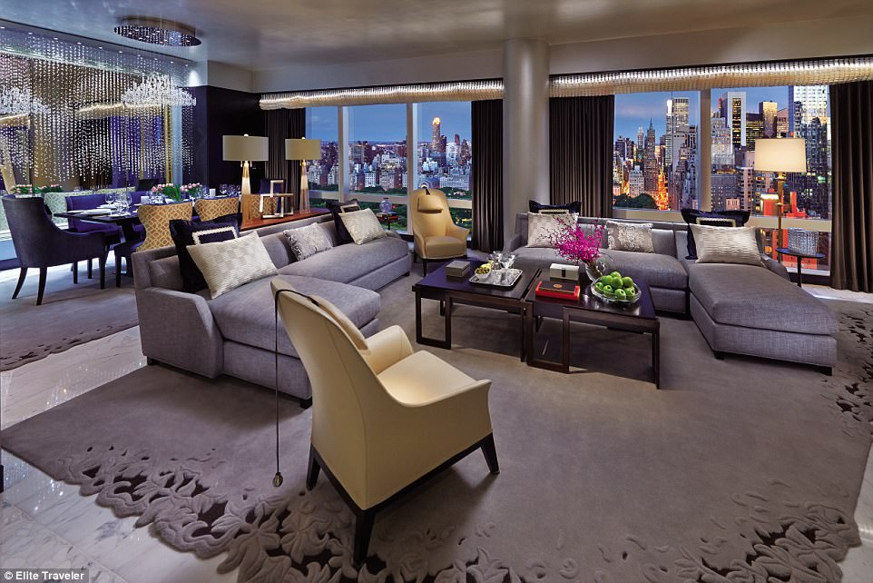 Glamour: Suite 5000 at Mandarin Oriental, New York, drips style and is one of the city's most popular hideaways