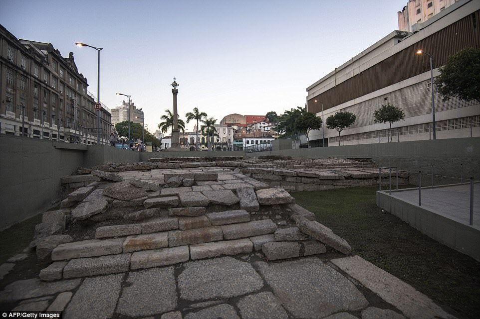 Checkered past: Millions of slaves from Africa took their first steps in Brazil through these stones of Valongo Wharf