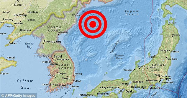 The circles show the epicentre of the earthquake which registered with a magnitude of 6.0