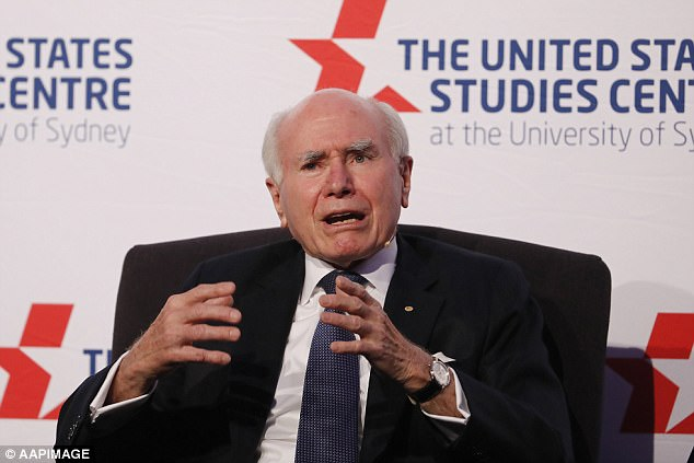 'The style of President Trump is unusual...I accept that some of his style is provocative, but in the end it's what he does that matters,' Mr Howard said at a University of Sydney event on Thursday