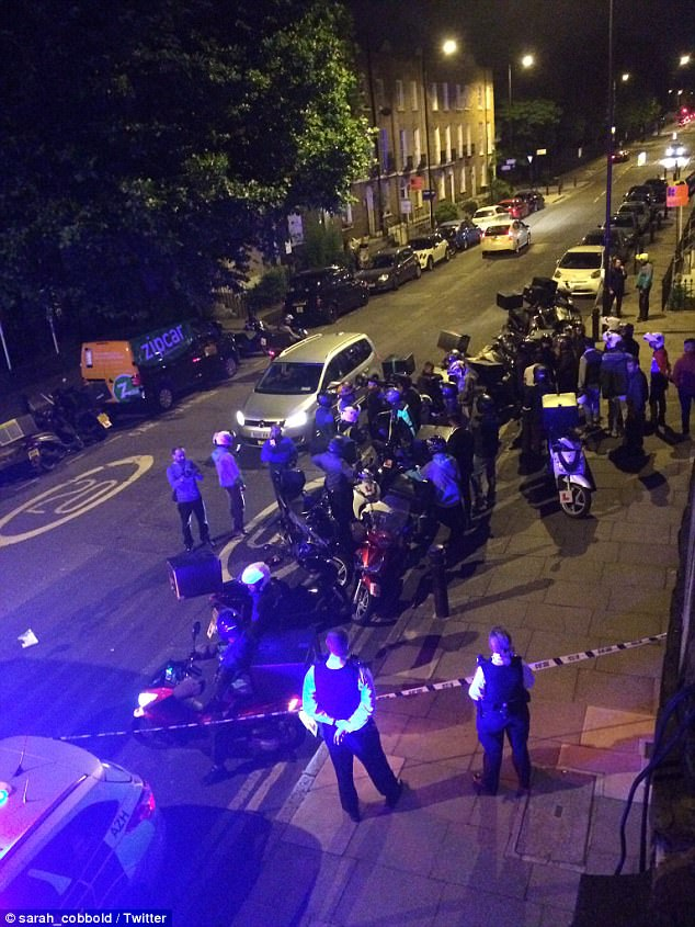 Two men on a moped carried out five acid attacks in a 72-minute period in London on Thursday night, leaving one victim with life-changing injuries on Hackney Road junction with Queensbridge Road (pictured)
